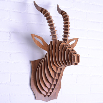 morden art wooden furnishing style wall decoration antelope