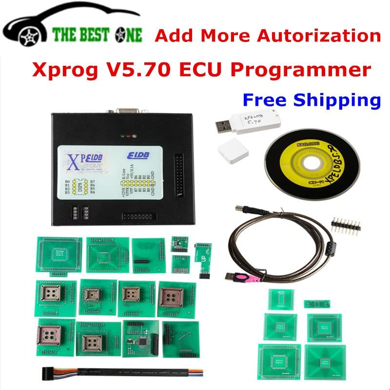 Цена за Новое поступление 2017 года XPROG V5.70 X-PROG-M 5.70 Box ЭКЮ программист с USB Dongle для eeprog/MCU/Immo/тире обновление xprog-м V5.60