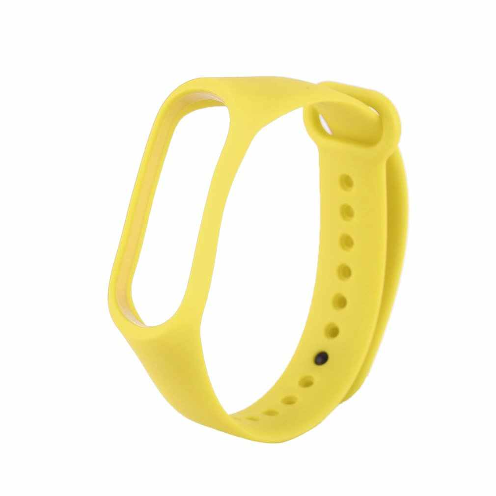 Premium Replacement Wrist Strap With Two Color Unique TPU Wristband Replacement for XIAOMI MI Band Three Generation