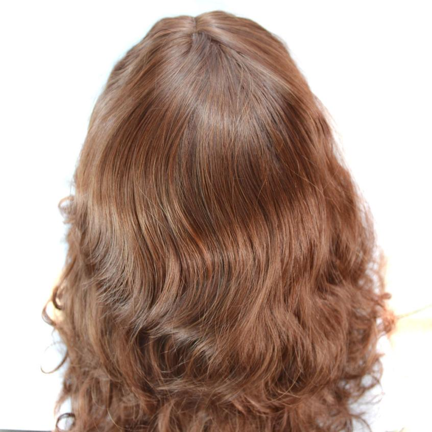 Ladies Fashion Women Charming Elegant Temperament In The Long Brown Curly Hair Wigs Fashion Ladies Styling Accessory A17