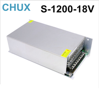 1200W 66A 18V switching power supply 220v 110v ac to 18v dc power supply for cnc cctv led light free shipping