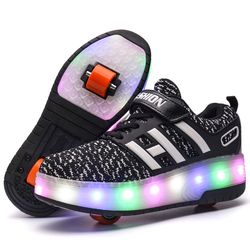 NEW Children Wheel Shoes With LED Gift Boy & Girls Casual Sports Breathabale Fashion Roller Sneakers For Kids Size 29-40