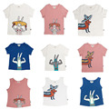 2017 summer kikikids bobo choses oeuf pink white kids dog rabbit boy girl short sleeve baby t shirt tee top vest vestido infanti