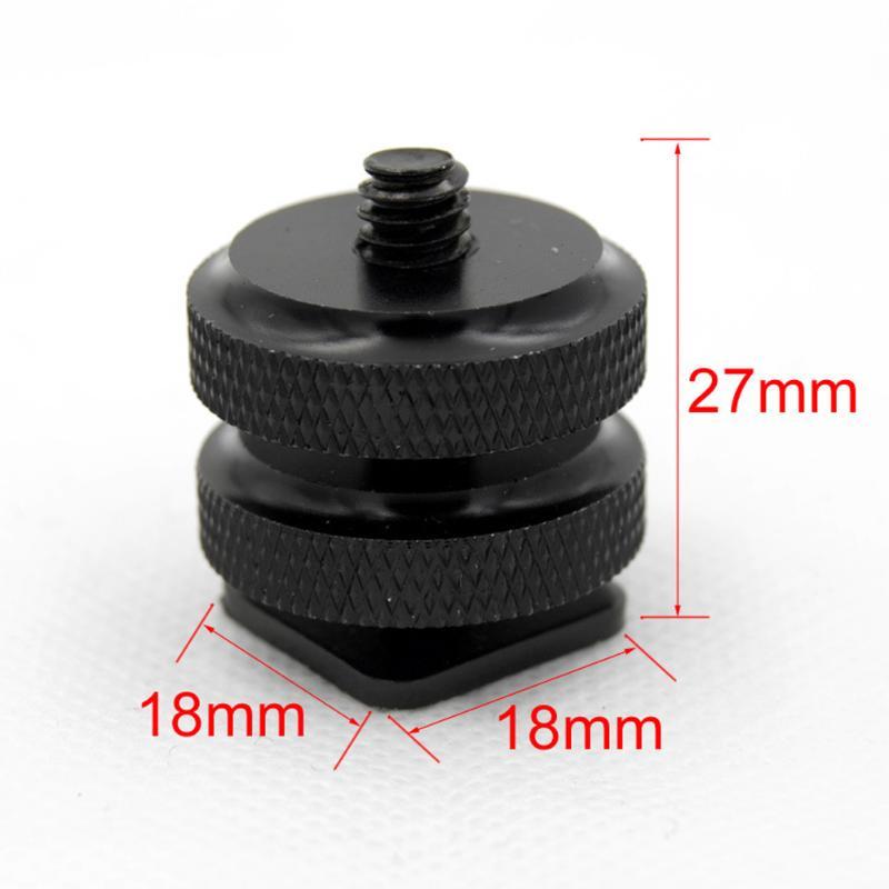 Aluminum Metal Black 1 4 Inch Tripod Mount Screw To Flash Camera Hot Cold Shoe Adapter