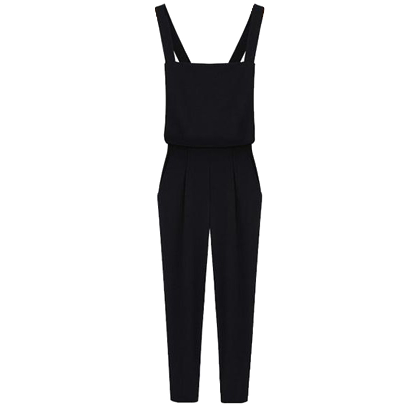 Women Plus Size Overalls Rompers Female   Jumpsuit   Sexy Ladies Casual Sleeveless Long Playsuits Trousers