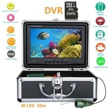 GAMWATER15M 30 м 50 м 9 ''дюймовый цифровой 1000TVL рыболокатор HD DVR рекордер Водонепроницаемый рыболовный видео подводный рыболовный фотоаппарат