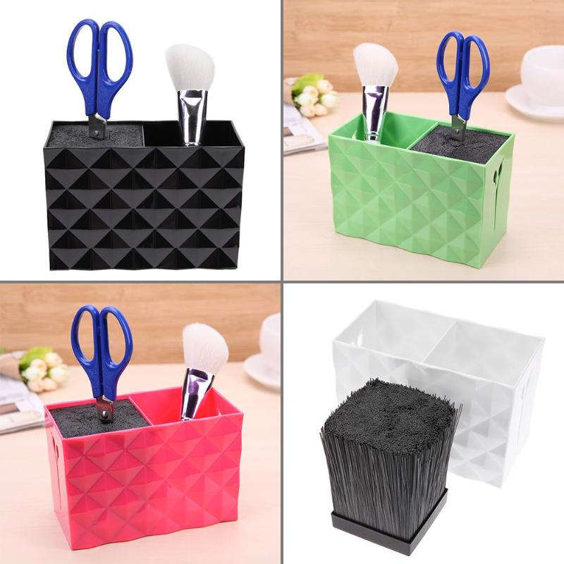 Plastic Hair Scissor Holder Stand Case Hair Clips Storage Box Pot Hairdressing Tools High Quality Scissors Holder Home Organizer