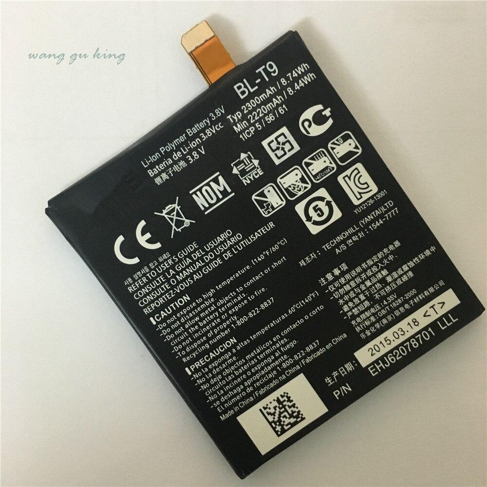 100% оригинальный мобильный телефон Батарея для LG Nexus 5 BL-T9 E980 G D820 <font><b>D821</b></font> 2300 мАч BLT9 Замена Батарея