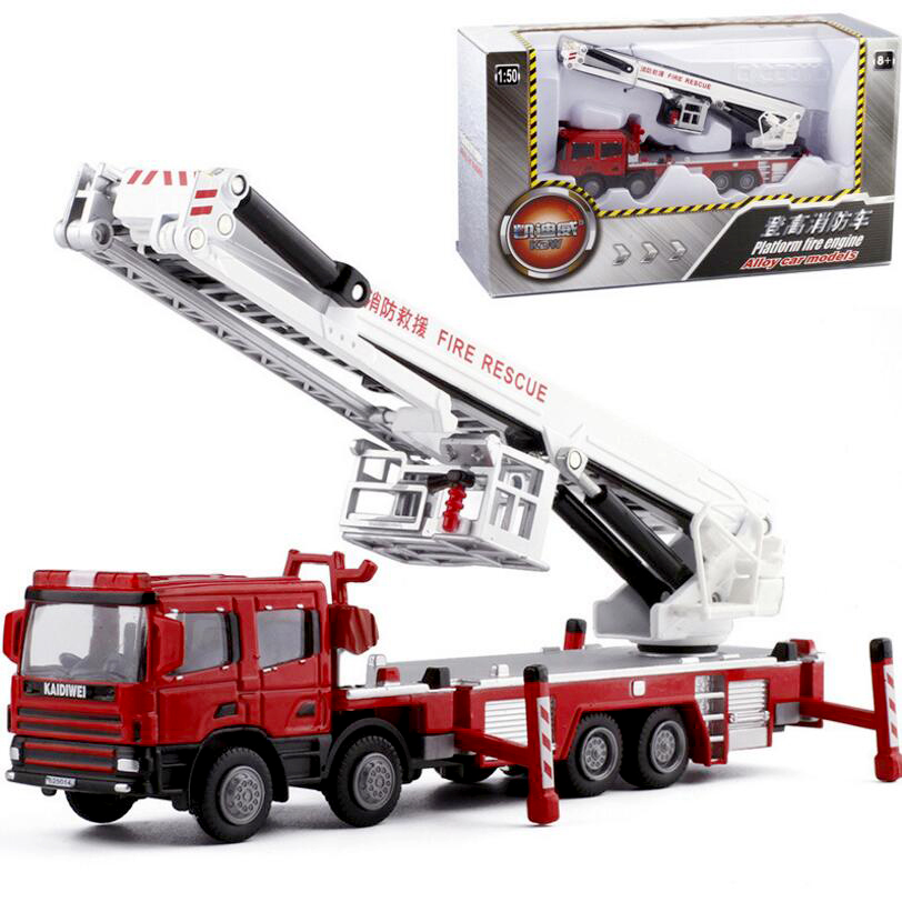1:50 Alloy Engineering Vehicle Model 360 Degrees Rotation Water Tank Ladder 119 Ascends Fire Truck Lift Simulation Available In Various Designs And Specifications For Your Selection