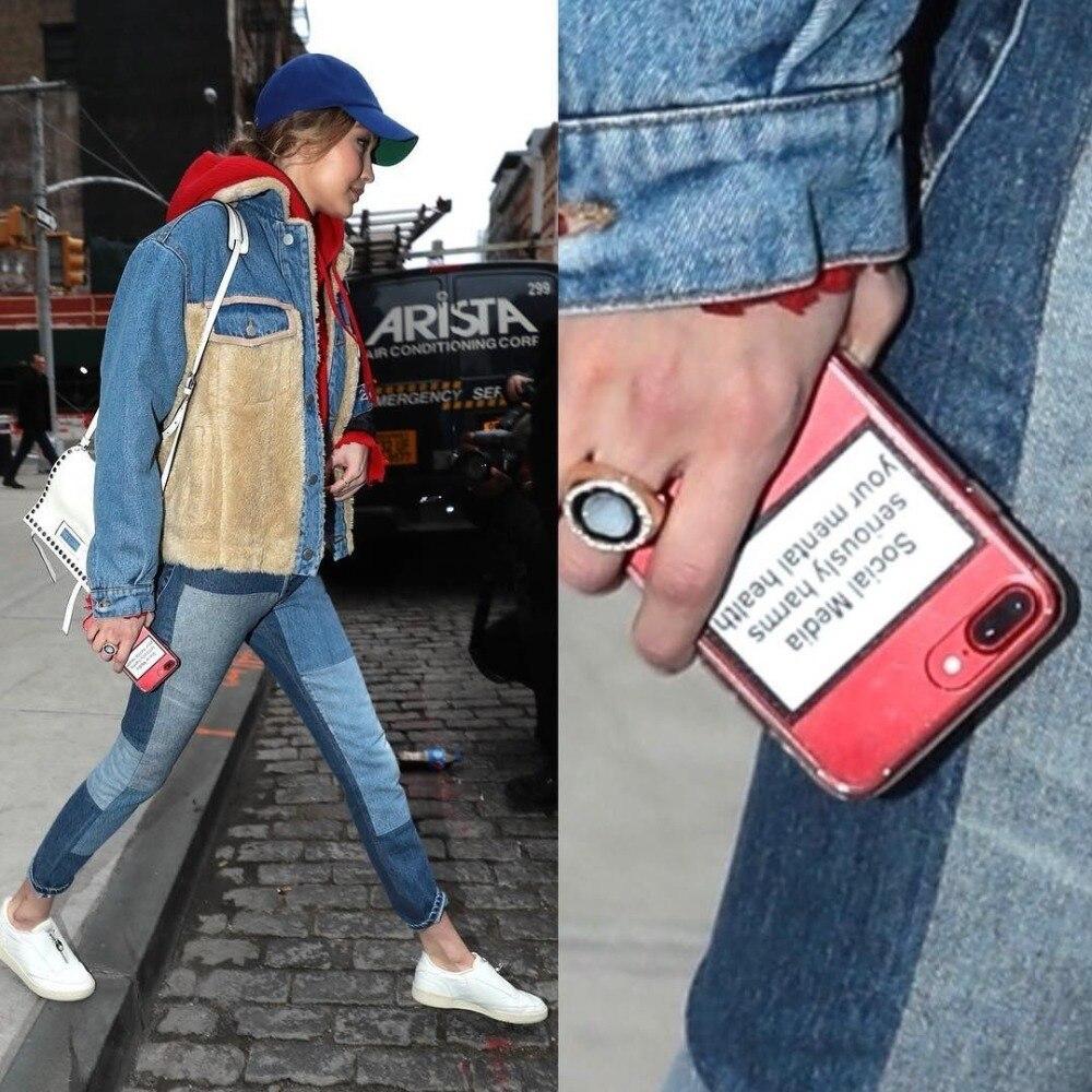 Социальные медиа серьезно вредит вашему психическому здоровью мягкие телефонные чехлы для iPhone 6 6S 7 8 Plus X XS MAX XR 5 5S SE задняя крышка Coque