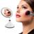 2-in-1 LED Maquillaje Espejo Con Lámpara de Mesa de Dormitorio Decoración de Mesa Espejo de Rotación de Carga USB Blanco/Negro Color calidad