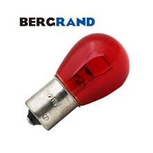 10 шт. S25 581 PY21W BAU15s 12V 21 Вт Красный Стекло поворотники Лампа офсетная печать шпильки задний фонарь стоп-сигнал светильник лампа для автомобиля светильник