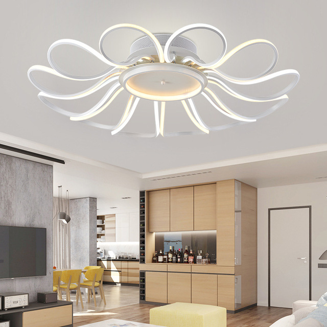 Acheter moderne lustre luminaires led for Lustre pour salon moderne
