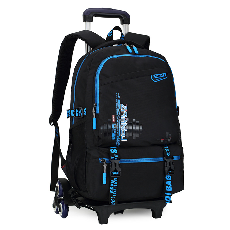 Brand Travel luggage child Multi-function school bag students rolling suitcase kids backpack Climb the stairs boy trolley case