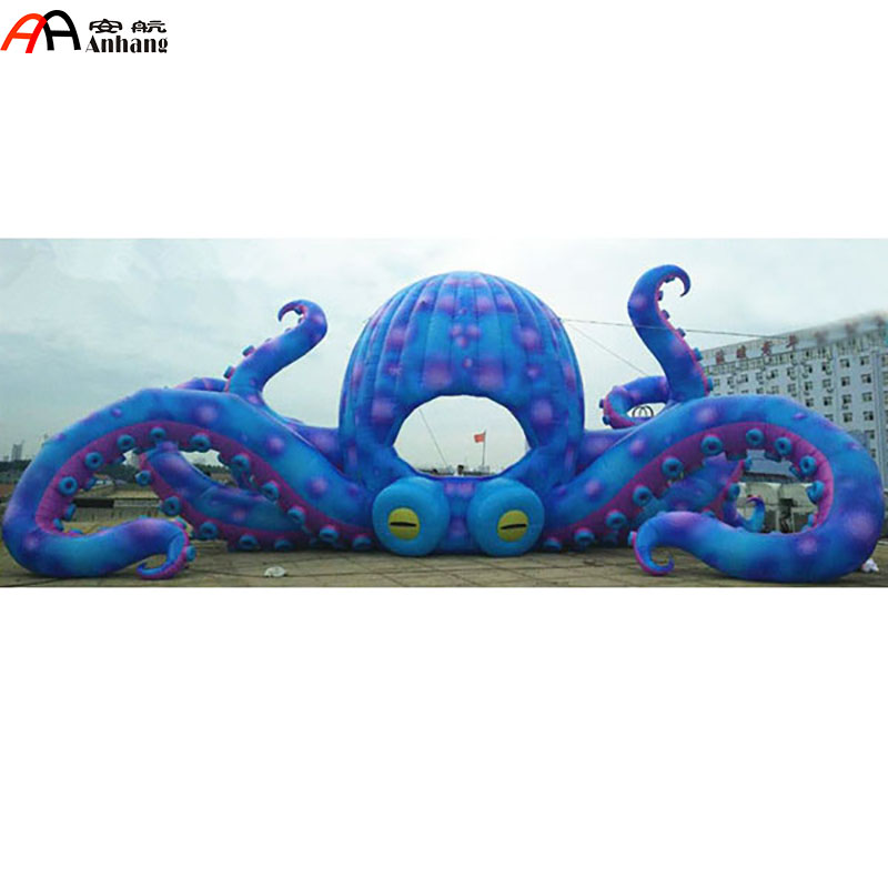 Free Shipping DJ Inflatable Octopus Booth Tent for Club Stage 6 8x4x3 4m oxford cloth inflatable stage tent inflatable stage cover inflatable canopy tent for concert with free shipping
