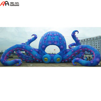 Free Shipping DJ Inflatable Octopus Booth Tent For Club Stage