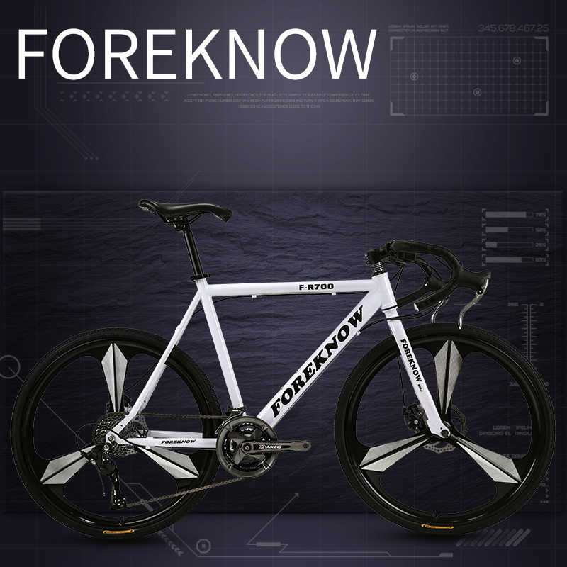 Переменная 21 скорость шоссейный велосипед мужской шоссейный гоночный велосипед двойной дисковый тормоз твердые шины для студентов