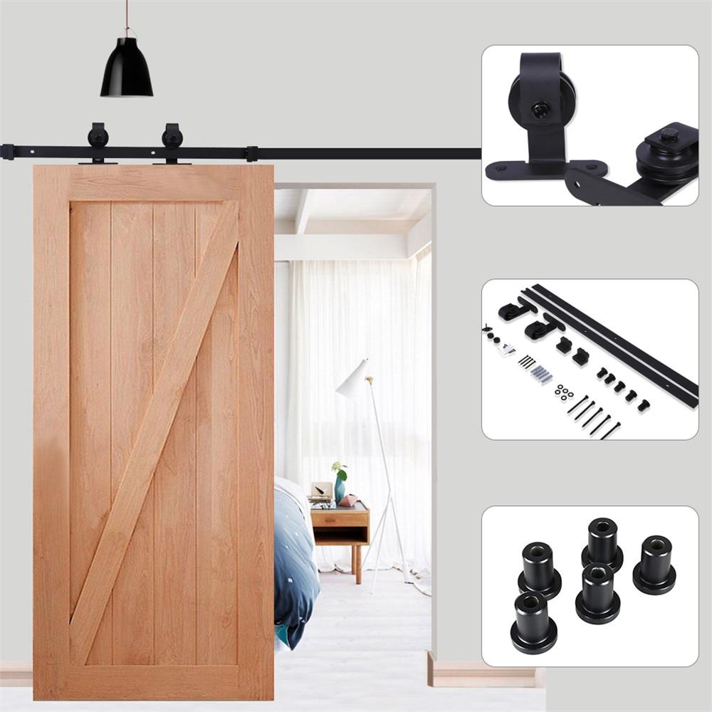 666ft Fittings For Sliding Door Steel Sliding Barn Wood Door Kit