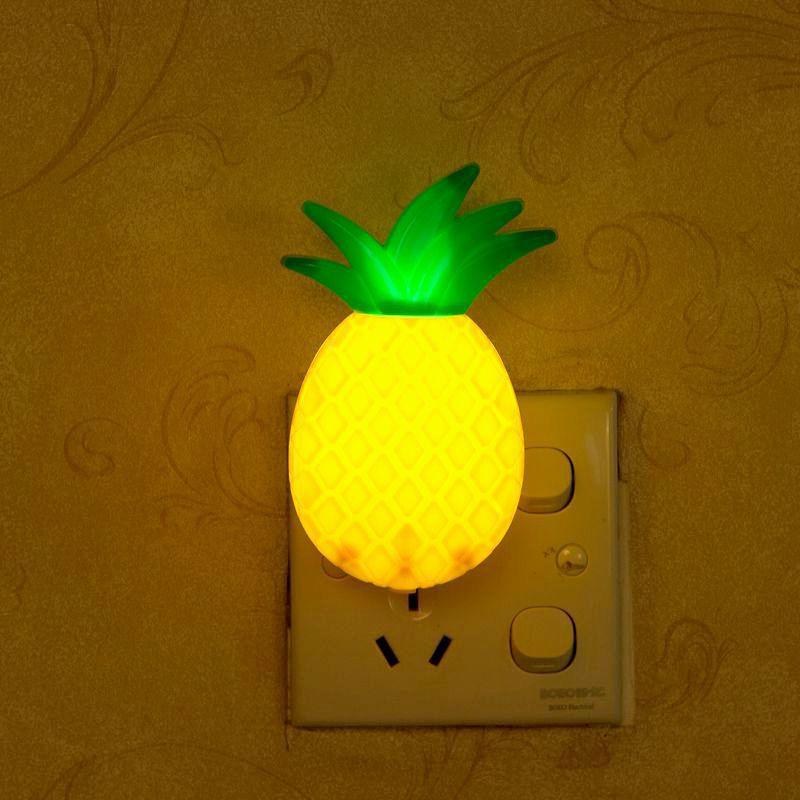 New Style Creative Pineapple LED Plug Night Light Decorative Light Baby Sleep Energy Saving Bedside Light