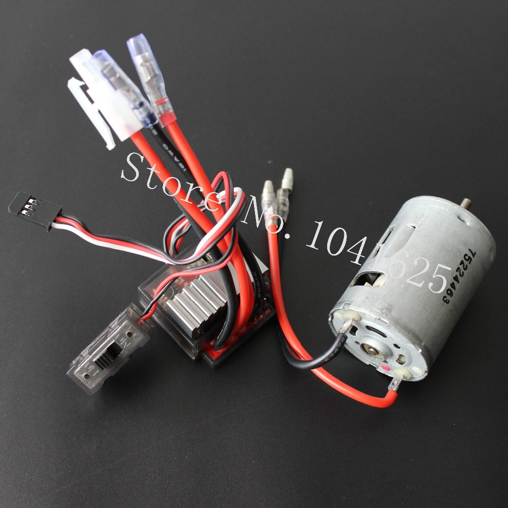 Hi Speed 03011 RS540 26 Turn Brushed Electric Engine Motor 540+320A Brush ESC For RC HSP 1/10 Speed Controller Fit Himoto Redcat aluminum water cool flange fits 26 29cc qj zenoah rcmk cy gas engine for rc boat