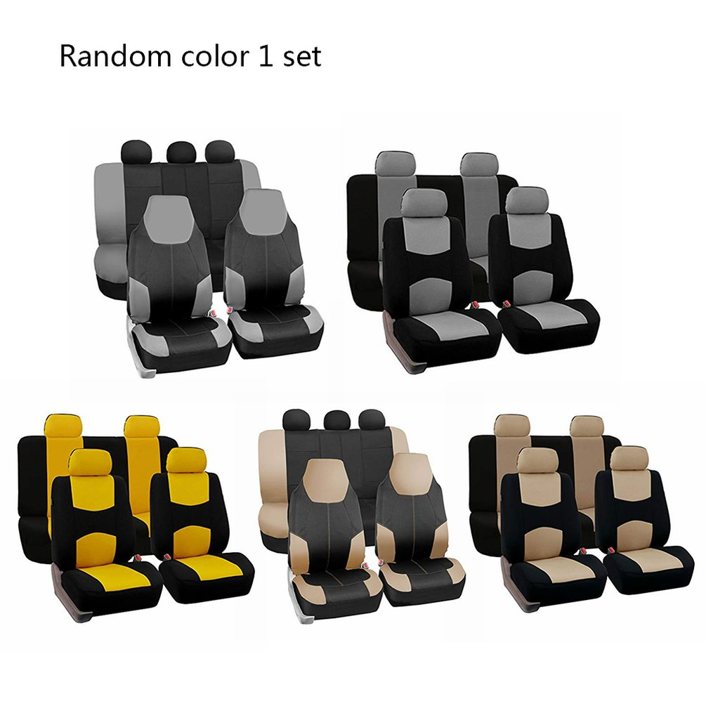 New Random Color 4 PCS Of Tablet Universal Car Seat Covers Auto Interior Styling Decoration Protect Fit Interior Accessories
