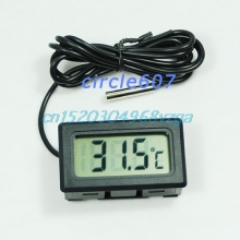 Aquarium LCD Digital Thermometer Fish Tank Water #H028#