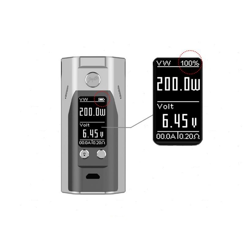 100% Original Wismec Reuleaux RX200S TC 200W OLED Screen Box Mod with Upgradeable Firmware Reuleaux RX200S-6