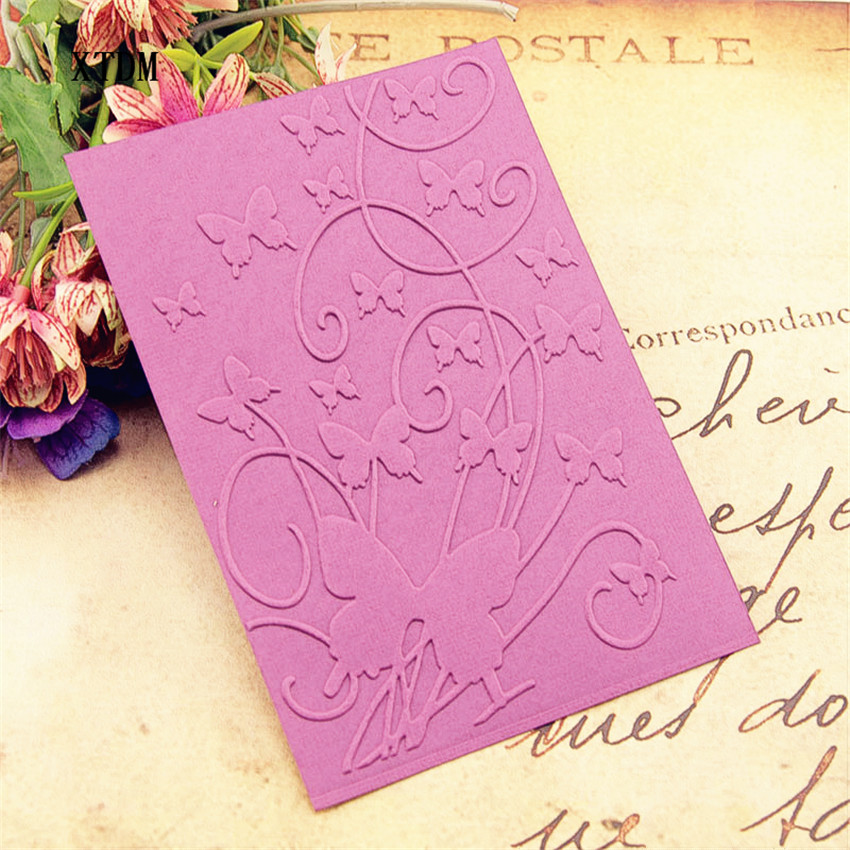 HOT Plastic Mountain Butterfly Template Craft Card Making Paper Card Album Wedding Decoration Scrapbooking Embossing Folders