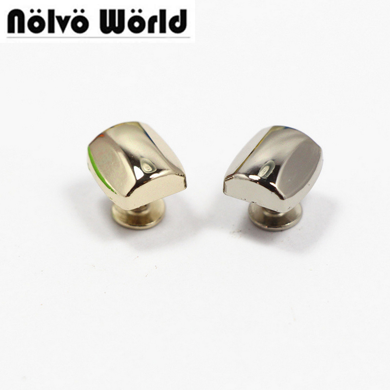Nolvo World 11.6*10.5mm Bags Rivets Unique Punk Metal Studs rivets for leather Spikes For Belts 50pcs/lot 3COLORS 100pcs lot 6colors 12mm round spikes fashion pop rivets stud hardware w screw for bags shoes wallets belts
