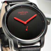 UNIFUN New Men Women Lover's Ultra Thin Fashion Casual Business Simple Style Analog Quartz Sports Watches Male Relogio Masculino(China)