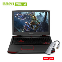Bben Gaming Laptops 17.3 RGB mechanical backlit keyboard Pro Win10 NVIDIA GTX1060 Intel i7 7700HQ 32GB+512GB SSD+2TB HDD disk
