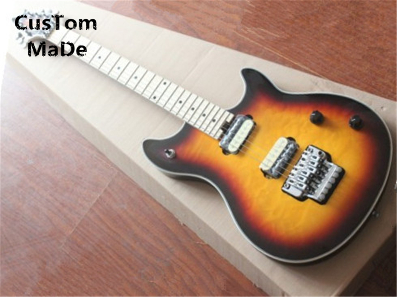 Wholesale & Retail EVH Wolfgang Vintage Sunburst Quilted Top Guitar Body China OEM Electric Guitar left Handed Custom Available цены