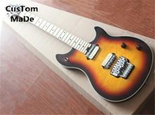 Großhandel & Einzelhandel EVH Wolfgang Vintage Sunburst Stepp Top Gitarren-körper China OEM E-gitarre linkshänder Kunden Verfügbar