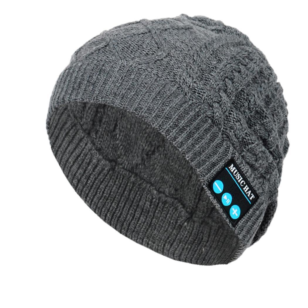 Unisex Soft Warm Bluetooth Music Hat 3.7V/180mA 2 hours DC 5V V4.2 Knitted Hat With Bluetooth 10M 1M Headphone