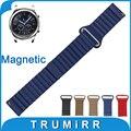 22mm banda reloj de cuero genuino correa de liberación rápida para samsung gear s3 clásico/frontier magnética hebilla de pulsera pulsera de la correa