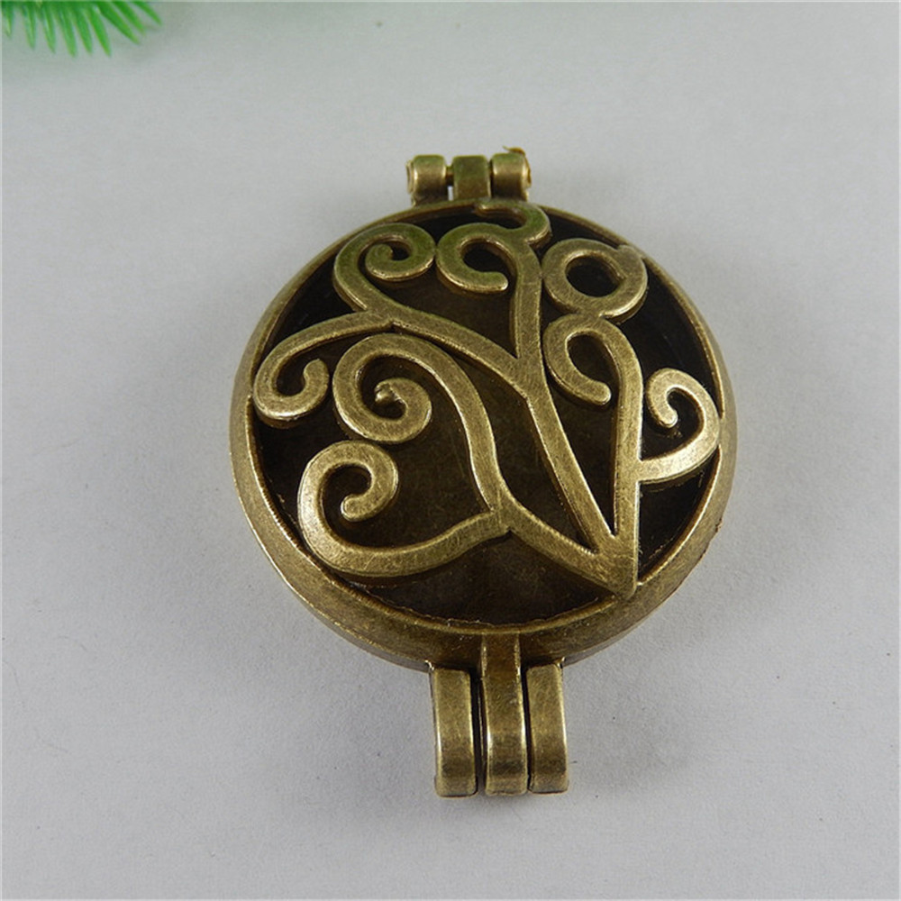 Julie Wang 1pcs/pack 2017 New Necklet Branch Hollow Antique Bronze Locket Add Chain Charms Fit Pendant Accessory And Others ...