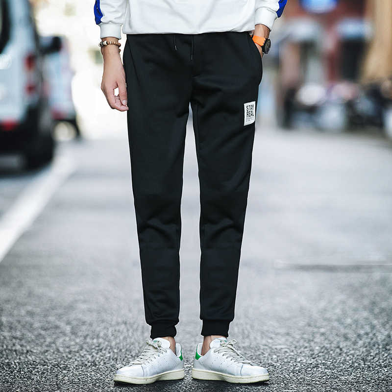 c3365379599b2c0 ... Весна Повседневное брюки Для мужчин пот штаны мужские хлопковые  Спортивная повседневные штаны прямые брюки хип- ...