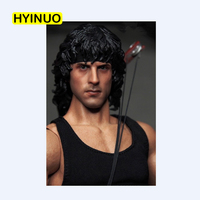 1/6 Scale Irony man Rambo Sylvester Stallone Long curly hair Head Sculpt Headplay for 12 Action Figure Body