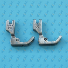 Industrial Sewing Machine Hinged Left Piping Welting Cording Presser Foot 2 PCS # P69LH important: choose you wanted size.