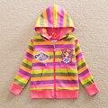 Neat sofia los primeros 2016 nuevo estilo cómodo princesa encantadora del patrón de algodón ropa de bebé niña de manga larga camisetas W506