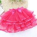Пушистый Шифон pettiskirts 4-10 Т Baby дети 5 Цветов туту юбки милые девушки Принцесса Dance Party Тюль Юбка юбка оптовая