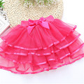Fluffy Chiffon pettiskirts 4-10T Baby kids 5 Colors tutu skirts cute girls Princess Dance Party Tulle Skirt petticoat wholesale