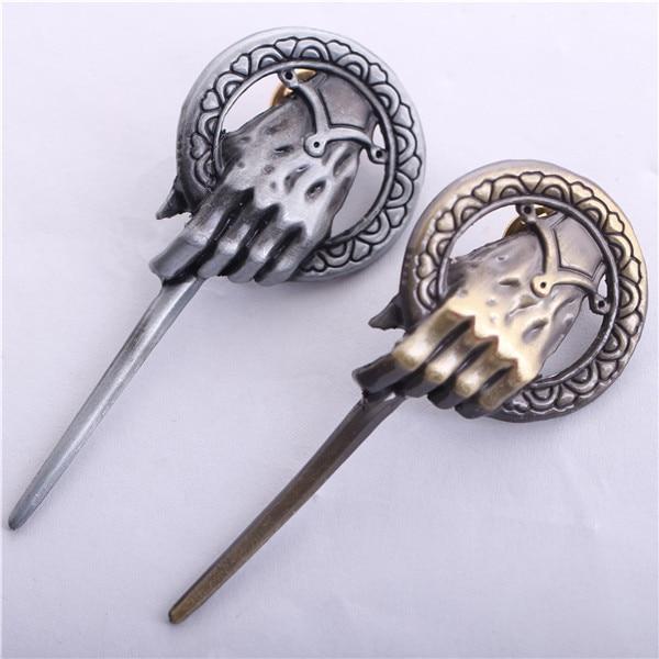 Oryginalny EditionThe pieśń lodu i ognia Gra o tron w ręce króla broszki ze stopu Pins darmowa wysyłka DHL 100 sztuk/partia w Broszki od Biżuteria i akcesoria na  Grupa 1