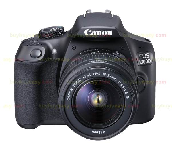 New Canon EOS 1300D Rebel T6 DSLR Wi-Fi Camera with 18-55mm III Lens ...