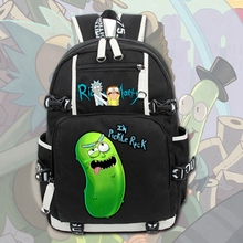 "2017 Νέο Anime Rick και Morty Laptop Backpack Cosplay Cartoon School Σάκοι 17 ""College Students τσάντα Βιβλίο Travelbag"