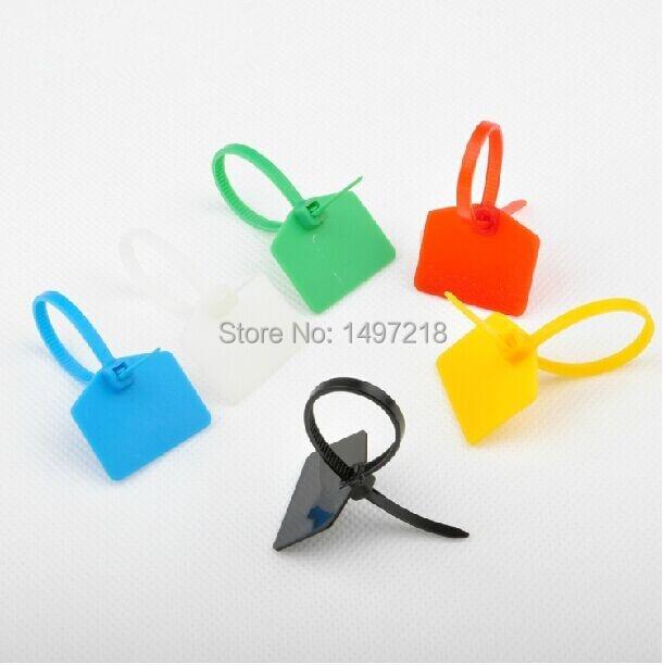 500 pcs lote 3 120mm plastico nylon cable tie com marcadores com lacos zip cabo tag