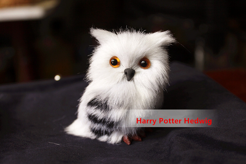 Harri Potter lelu Hedwig luminen pöllö Doll Simulaatio Pehmo Nighthawk Pet nuket Cosplay