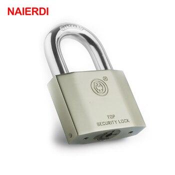 цены NAIERDI B7 Series Super B Grade Padlocks Silver Color Portable Anti-Theft Rustproof Luggage Suitcase Gate Lock Security Padlock