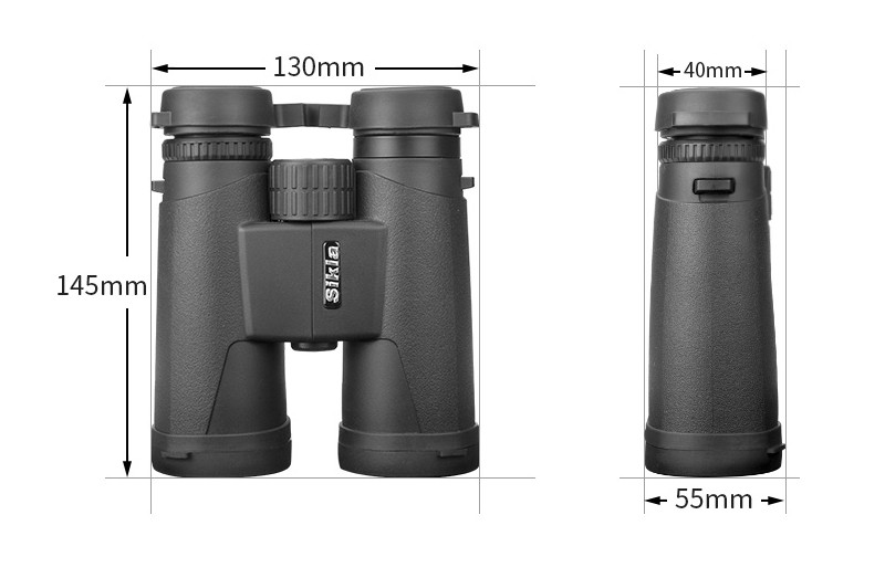 Military HD 10x42 Binoculars Professional Hunting Telescope Zoom High Quality Vision No Infrared Eyepiece High powered Telescope in Monocular Binoculars from Sports Entertainment