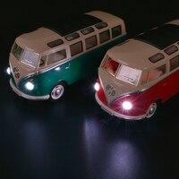 High quality 1:24 Children's Toys Mini bus Alloy van Model toy Bus model acousto optic vehicle